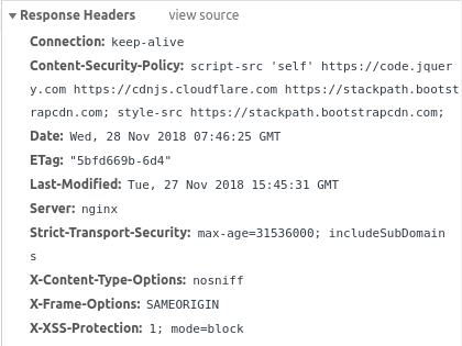 HTTP Security Headers with Nginx